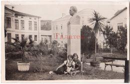 BULGARIA 1920s TRIAVNA SLAVEIKOV MONUMENT MALCHEV BROTHERS HOTEL RPPC Ab627 - Bulgarie