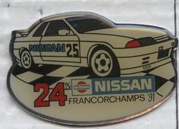 Pin's Voiture Nissan Rallye Course 24 Heures De Francorchamps 1991 - Rallye