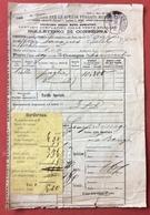 STRADE FERRATE  MERIDIONALI BOLLETTINO DI CONSEGNA CHIASSO 5/11/1891 CON BORDERAU - Treni