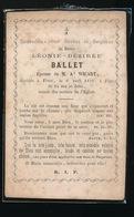 LEONIE BALLET   FIVES 1858  24 JAAR OUD - Overlijden