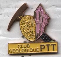 Pin's PTT La Poste Club Géologique - Mail Services