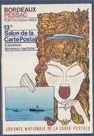 = Bordeaux-Pessac 13èm Salon De La Carte Postale 1992 Exposition Bordeaux-maritime Journée Nationale De La Carte Postale - Sammlerbörsen & Sammlerausstellungen