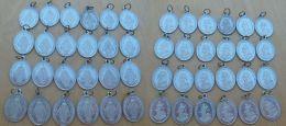 Médal-061 Lot De 48 Médailles Identiques En Alu Ô Marie Conçue Sans Péché - Religión & Esoterismo