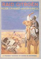 France Car Postcard Raid Citroen Traversée Du Sahara En Automobile 1922-1923 - Reproduction - Pubblicitari
