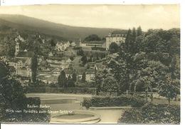 BADEN BADEN / BLICK VOM PARADIES ZUM NEUEN SCHLOSS - Baden-Baden