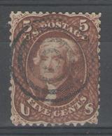 USA:  N°21a Oblitéré (brun-rouge)      - Cote 425€ - - 1847-99 General Issues