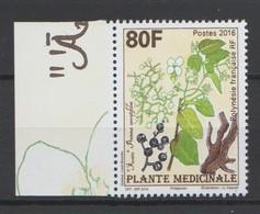 POLYNÉSIE FRANÇAISE 2016 : Plante Médicinale -  Neuf ** En Bord De Feuille- - Französisch-Polynesien