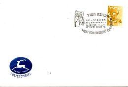 "ISRAËL. Enveloppe Avec Flamme Commémorative De 1958. ""Fight For Freedom"" Exhibition. - Israel"