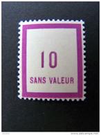 FICTIFS NEUF ** N°F 84 SANS CHARNIERE (FICTIF F84) - Phantomausgaben