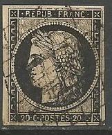 CERES N° 3 CADRE Nord Et Sud Ouest Brisé OBL - 1849-1850 Cérès