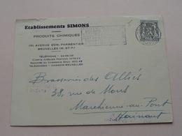 Ets. SIMONS Bruxelles ( Chimique ) : Anno 1948 > Brasserie Allies > Marchienne-au-Pont ( Zie/voir Photo ) ! - Antwerpen