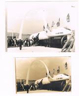 D93 LE BOURGET ?. AVION DE CHASSE AMERICAIN . PROTOTYPE ?.  2 PHOTO. - Aviation