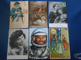 LOT-6-CPA-FANTAISIES--illustration--peinture--dessin----254 - Cartes Postales