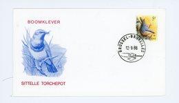 Sitelle Torchepot-Belgique 1988- Buzin -FDC - Zangvogels
