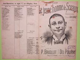 Partition - Le Jeune Homme De Sceaux, Paroles De P.Briollet, Musique De Del-Pourny - Dessin Crevel Frères (1 Cachet) - Scores & Partitions