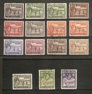 TURKS AND CAICOS ISLANDS 1938 - 1945 SET (ex 2s) SG 194/205 (ex SG 203) FINE USED ~ HIGH CAT ~ - Turks And Caicos