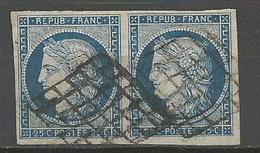 CERES Paire De N° 4 OBL TB - 1849-1850 Cérès