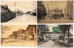 Lot 10 CPA France / Le Blanc, Longpont, Wissant, Bornel, Saint-Brieuc... / A Voir !!! - Cartes Postales