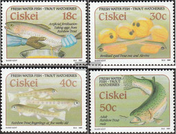 South Africa - Ciskei 153-156 (complete.issue.) Unmounted Mint / Never Hinged 1989 Forellenzucht - Ciskei