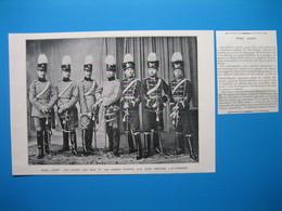 (1905) PÉRIL JAUNE : 7 Officiers Chinois En Uniformes Germaniques - Old Paper