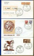 ITALIA - FDC  1976 - ESPRESSO LIRE 300 - ORDINARIA - PACCHI CONCESSIONE  LIRE 500 - 6. 1946-.. Repubblica