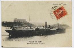 "2193 - PAQUEBOT  ""   VILLE  DE  BONE  ""  Service  De  Marseille En Algérie  CIRCULEE En 1912 - Paquebots"