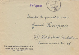 Feldpostbrief Der FP Nr. 21441- Hafenkapitän Cattaro (Kotor) 31.7.44 - Montenegro