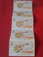CUPÓN DE ONCE SPANISH LOTERY CIEGOS SPAIN LOTERÍA ESPAÑA INSTRUMENT MUSIC 1987 GUITARRÓN MEJICANO MEXICAN GUITAR - Lottery Tickets