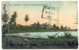 - Costa Rica - Limon - Hospital - Estacion Télégrafica Inalambrica, Couleur, épaisse, TBE, Scans. - Costa Rica