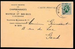 GELE BRIEFKAART  S.A. DES CHARBONNAGES ET MAIREUX ET BAS BOIS  A SOUMAGNE  1929 - Soumagne