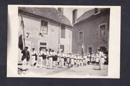 Carte Photo Chatillon Sur Marne (51) Mise En Place Defile Jeunes Gens Et Filles ( Gymnastique ? )  Archives Hourdry - Châtillon-sur-Marne
