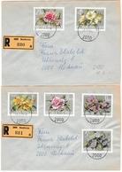Stockerau 1972 - Fleurs Blumen Flower - Lettre Recommandée Registered - 1945-.... 2. Republik