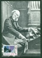 CM-Carte Maximum Card #1985-Belgique-Belgium # Europa  CEPT # Musique,Musik,music ( Cèsar Franck , Composer ) (1CM) - 1985