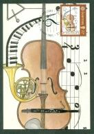 CM-Carte Maximum Card #1985-GB-Guernsey  # Europa  CEPT # Musique,Musik,music (violon,violin ( 1CM) - Europa-CEPT