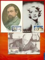 CM-Carte Maximum Card #1985-GB-Jersey # Europa  CEPT # Musique,Musik,music (Ivy St.Helier,C.Debussy,John Ireland ) - 1985