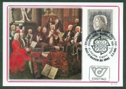 CM-Carte Maximum Card #1985-Autriche-Austria # Europa  CEPT # Musique,Musik,music ( Johann Joseph Fux ,composer - Europa-CEPT