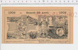 Carte Géographique Département Corse Napoléon Bonaparte Siège De Calvi Pascal Paoli Ruche Miel Corail Chèvre Vin PF222D - Old Paper