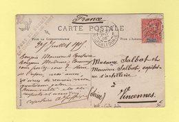 Nouvelle Caledonie - Noumea - Le Capitaine Du Port - Carte Photo - 27 Juil 1905 - Briefe U. Dokumente