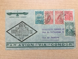 ZEP Brasilien 1931 DOX-Flug Europa - Südamerika Brief Von Natal Nach Rio De Janeiro - Brazil