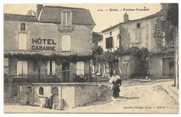 24-BELVES-Fontaine Foncastel...1918  Animé  Hôtel CABANNE... - France