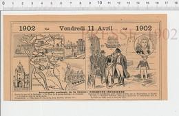 Carte Géographique Département Charente-Inférieure Napoléon Sainte-Hélène Béllérophon Réaumur Huitres Marennes PF222D - Old Paper