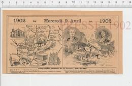 Carte Géographique Département Charente Truffes Cochon Montalembert La Quintinie Chabanais Vin Cognac Fonderies PF222D - Old Paper