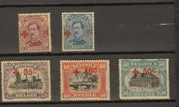 Belgie Belgique Ocb Nr: 155 - 159 * MH  (zie Scans) - 1918 Croix-Rouge