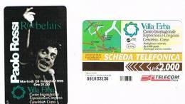 TELECOM ITALIA - OMAGGIO PRIVATE - C.&C. 3406 - 1996 VILLA ERBA, COMO: PAOLO ROSSI (RABELEIS)      2.000 - NUOVA - Italy