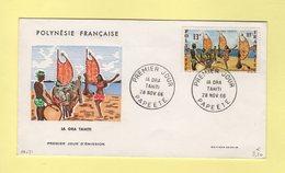 Polynesie - FDC - Ile Ora - 28 Nov 1966 - Polynésie Française