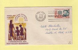 Nouvelles Hebrides - Port Villa - 2-9-1963 - Premier Jour - Campagne Mondiale Contr La Faim - FDC