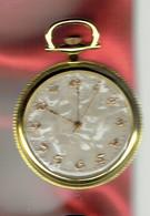 Montre Gousset Quartz - Fond Marbré - Verso Ciselé Lettres Or Sur Or - Horloge: Zakhorloge