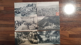 TOP LOT 200 CARTES POSTALES ANCIENNES FRANCE -TOUTES SCANNEES- DEPART 1 EURO -VILLAGES 100% ANIMEES USINES MARCHES GARES - Postcards