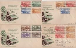 Nouvelles Hebrides - Port Villa - 3-9-1957 - Lot De 4 FDC - Premier Jour - FDC