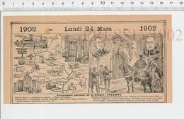 Carte Géographique Département Aveyron Montluc Archevêque Affre Frayssinous Rodez Lampisterie Ganterie Fromages PF222D - Old Paper